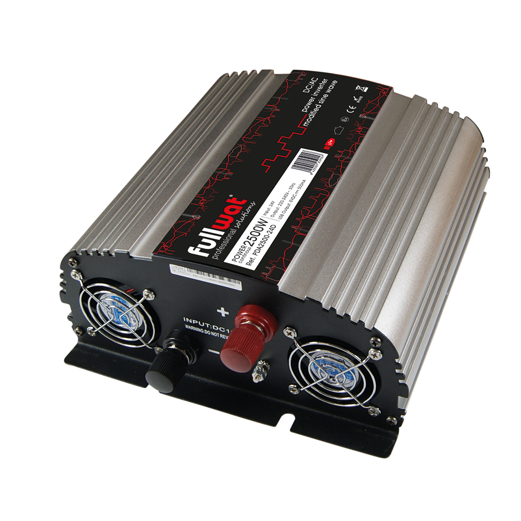 FULLWAT - PDA2500-24D. DC/AC Voltage converter 2500W of  modified sine wave. Input: 19 ~ 32Vdc. Output: 220 ~ 240Vac