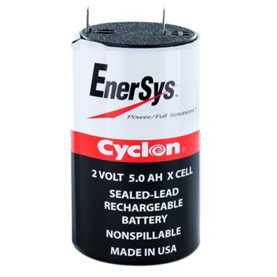 ENERSYS - 0800-0004. Batterie rechargeable au Plomb-acide technologie AGM-VRLA. Série Cyclon. 2Vdc / 5Ah Application stationnaire