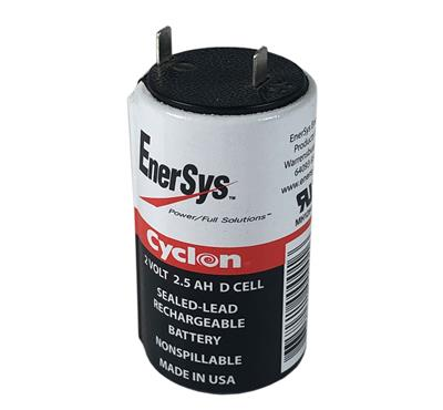 ENERSYS - 0810-0004. Batterie rechargeable au Plomb-acide technologie AGM-VRLA. Série Cyclon. 2Vdc / 2,5Ah Application stationnaire