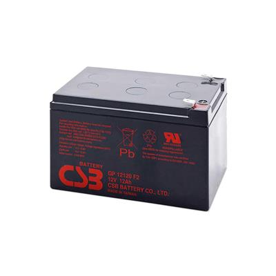 CSB - GP12120. Batterie rechargeable au Plomb-acide technologie AGM-VRLA. Série GP. 12Vdc / 12Ah Application stationnaire